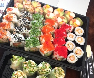 food, japanese, and sushi image