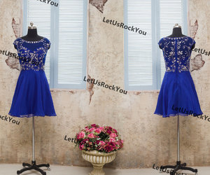 etsy, wedding party dress, and blue prom dresses image