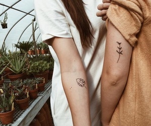 cute, flower, and tattoo image