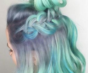 blue, tress, and hair image