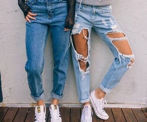 jeans, fashion, and style image