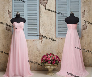 etsy, bridesmaid dresses, and pink party dress image
