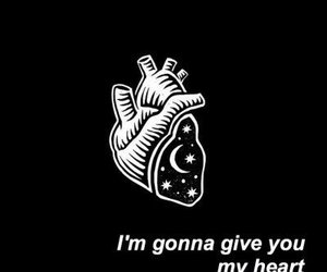 black, coldplay, and heart image