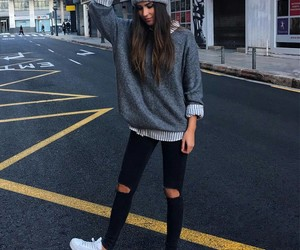 beauty, longhair, and sneakers image