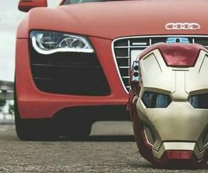 audi, car, and iron man image