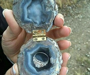 ring, wedding, and blue image
