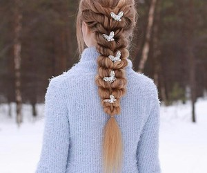 hair and winter image