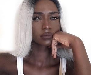 beauty, fashion, and grey image