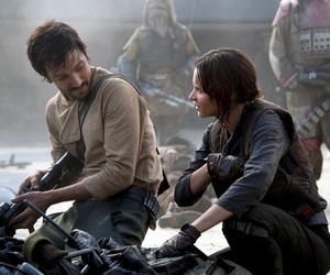 rogue one, jyn erso, and cassian andor image