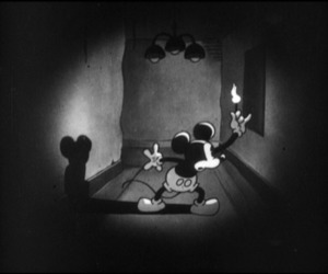 animation, mickey mouse, and black and white image