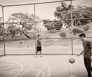 Basketball, black and white, and fitness image