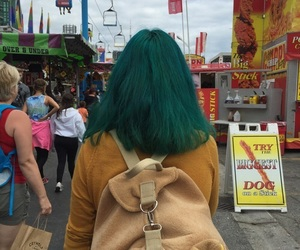 hair, green, and alternative image