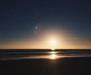 afternoon, sunset, and beach image