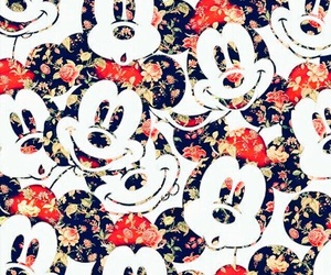 disney, flower, and mickey mouse image
