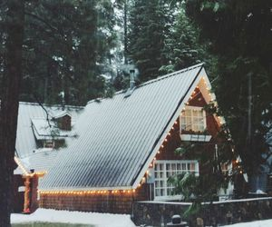 winter, cabin, and cozy image