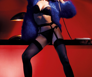 Dita von Teese and lingerie image
