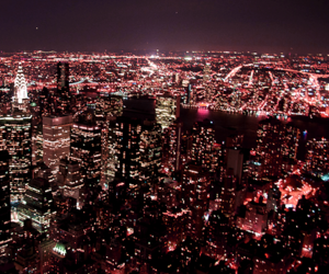 empire state, new york, and pink image