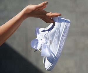 puma, white, and shoes image