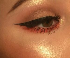 makeup, eyeliner, and aesthetic image