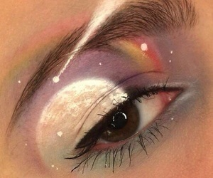 makeup, eye, and aesthetic image