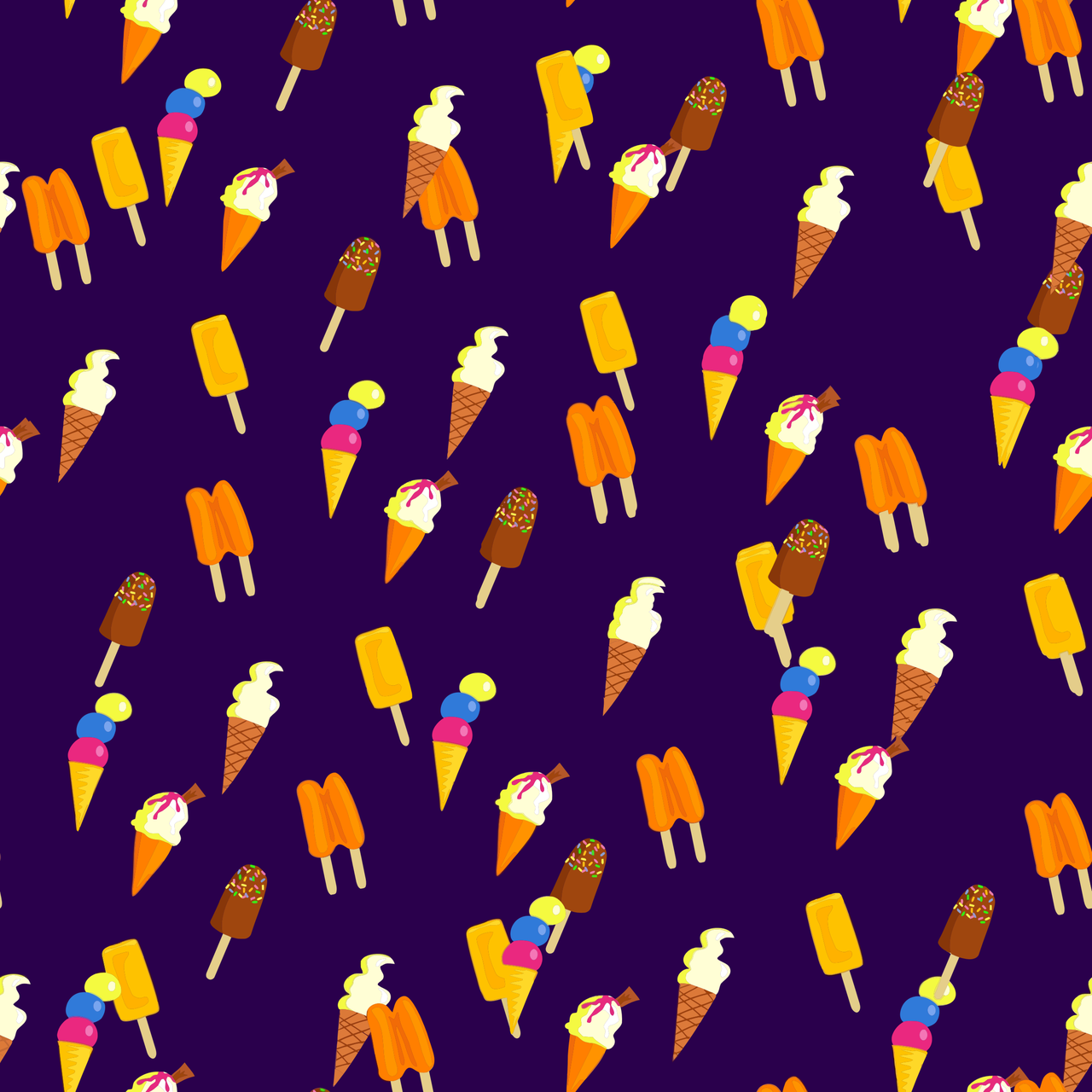 ice, ice cream, and patterns image