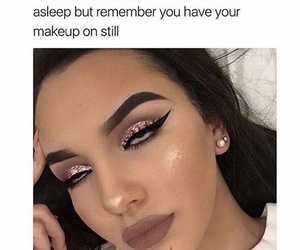funny, girl, and make up image