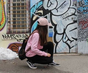 art, pink, and teen image