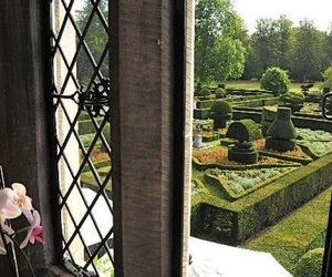 garden, castle, and green image