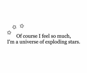 exploding, feeling, and quote image