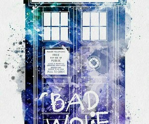 doctor who, tardis, and bad wolf image
