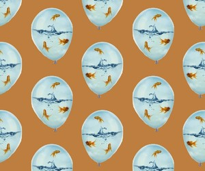 balloon, fish, and pattern image