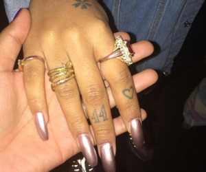 nails, beauty, and jewelry image