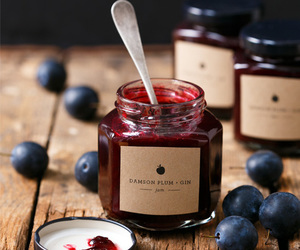 food, jam, and blueberry image