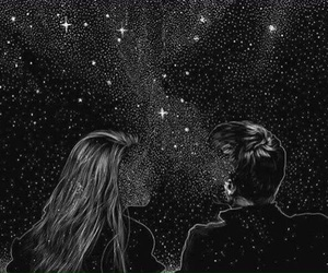 black and white, stars, and casal image