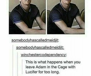 supernatural, lucifer, and adam image
