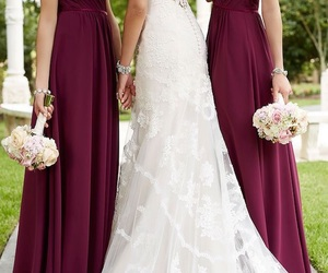 bride, wedding, and bridesmaid image
