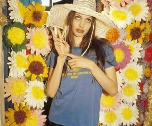 Angelina Jolie, flowers, and 90s image