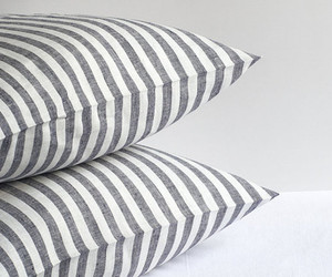 bedding, linen, and stripe image