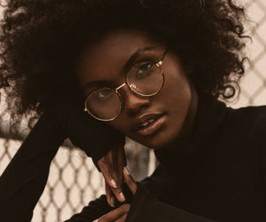 beauty, black girl, and Afro image