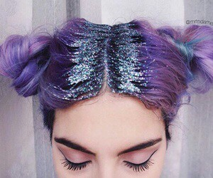 hair and glitter image
