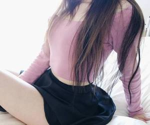 fashion, korean fashion, and pink image