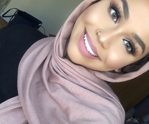 girl, smile, and hijab image