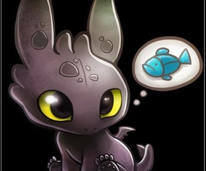 toothless, how to train your dragon, and cute image