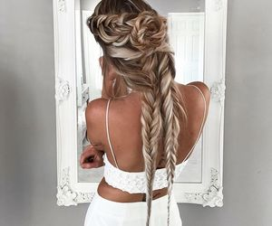 braids, hair, and hair rose image