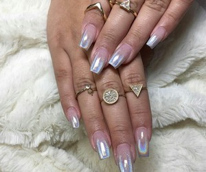 holographic, nails, and tumblr image