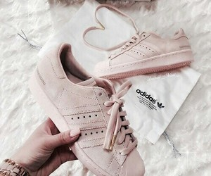 adidas, heart, and Nude image