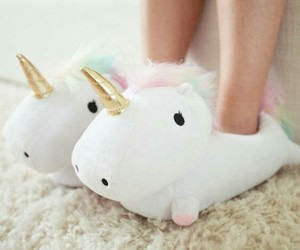 comfy, slippers, and unicorn image