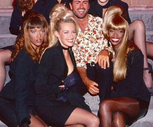 george michael, models, and 90s image