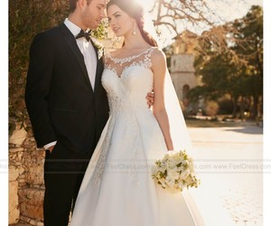 fashion, bridal gowns, and plus size wedding dresses image