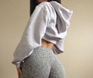 grey leggings and cropped hoodie image